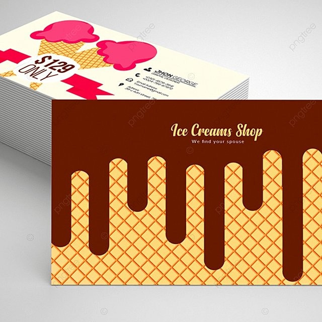 ice cream business card templates template for free download on pngtree