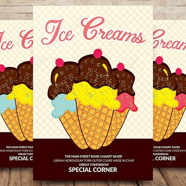 ice cream flyer template template for free download on pngtree