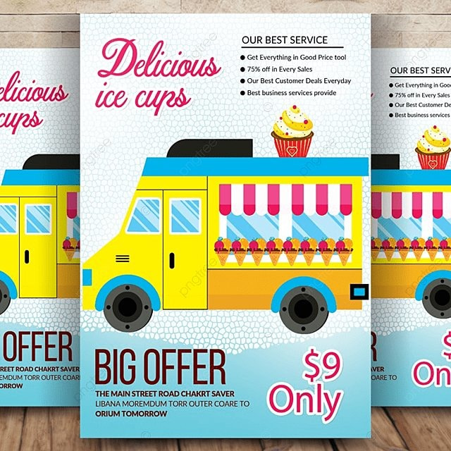 ice cream social flyer template for free download on pngtree