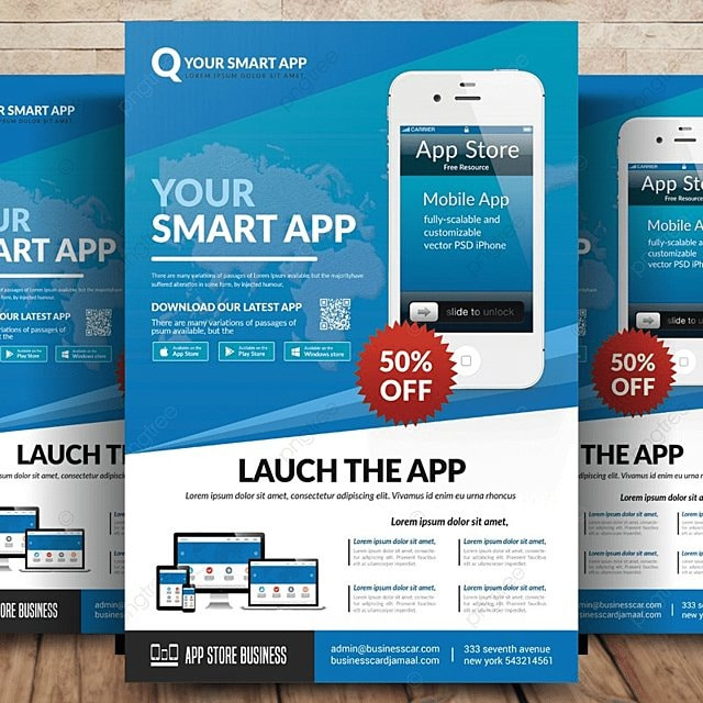 mobile app flyer template template for free download on pngtree