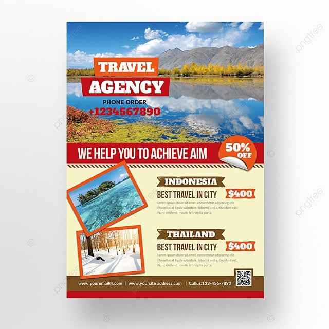 Travel Agency Flyers Template
