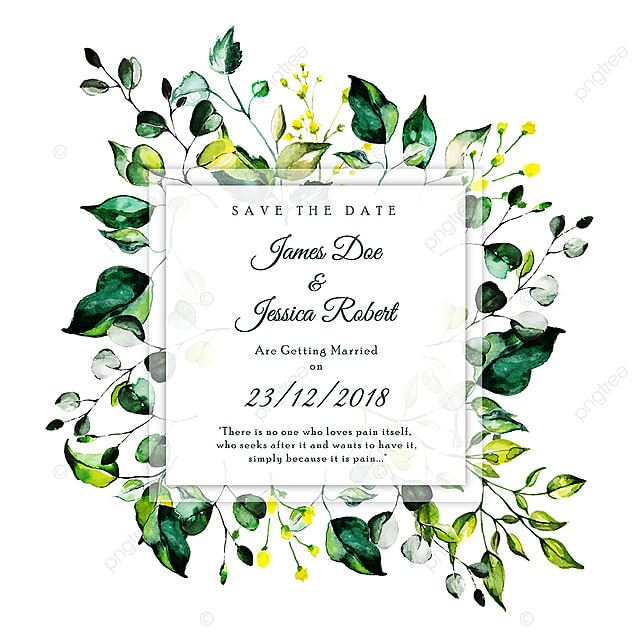 beautiful watercolor floral wedding invitation card