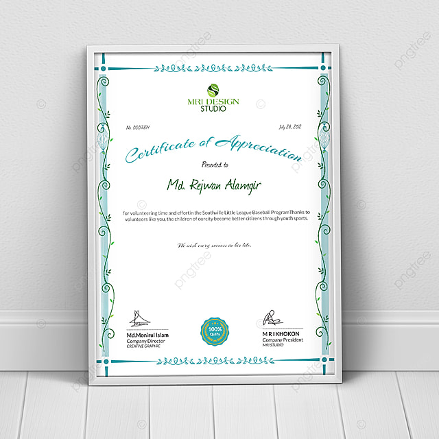 certificate appreciation template template for free download on pngtree