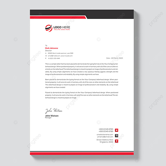 free letterhead template template for free download on pngtree