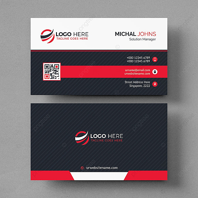 Modern Black And White Business Card Template For Free Download On