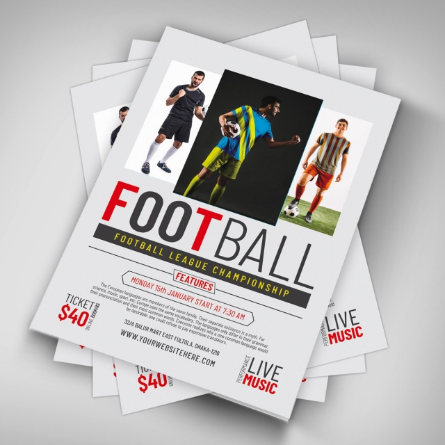 football flyer template template for free download on pngtree