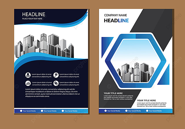 brochure layout with geometric shape template for free download on