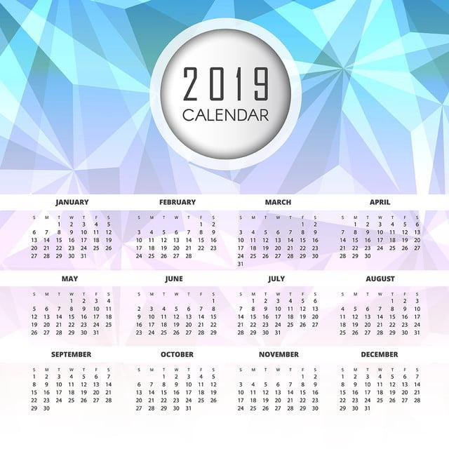 красочные вектор 2019 календарь дизайн Шаблон для