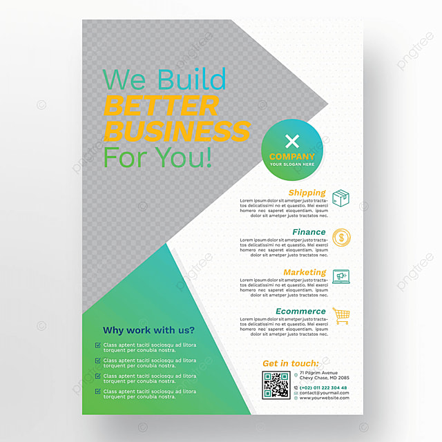 White business flyer with green details template for free download white business flyer with green details template reheart Images