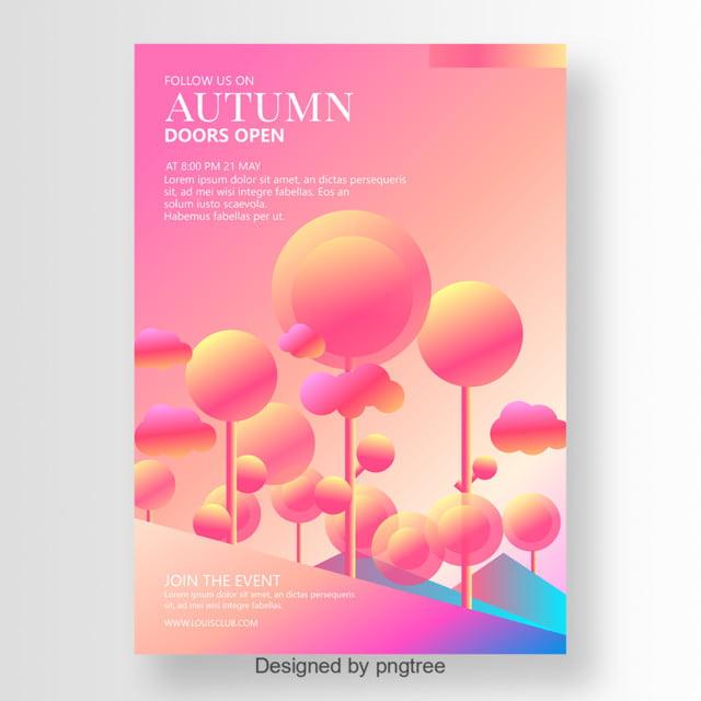 la mode automne affiche gradient mod u00e8le de t u00e9l u00e9chargement