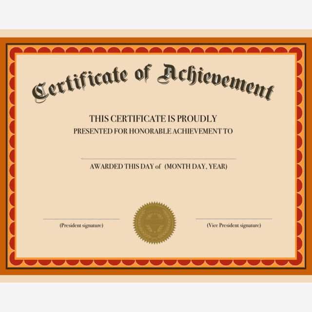 Achievement Certificate Template For Free Download On Pngtree