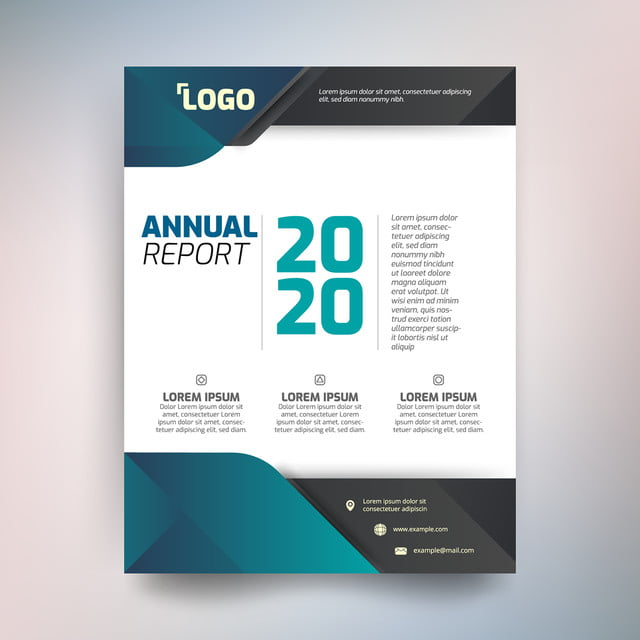 annual report template abstract design with green tone template for