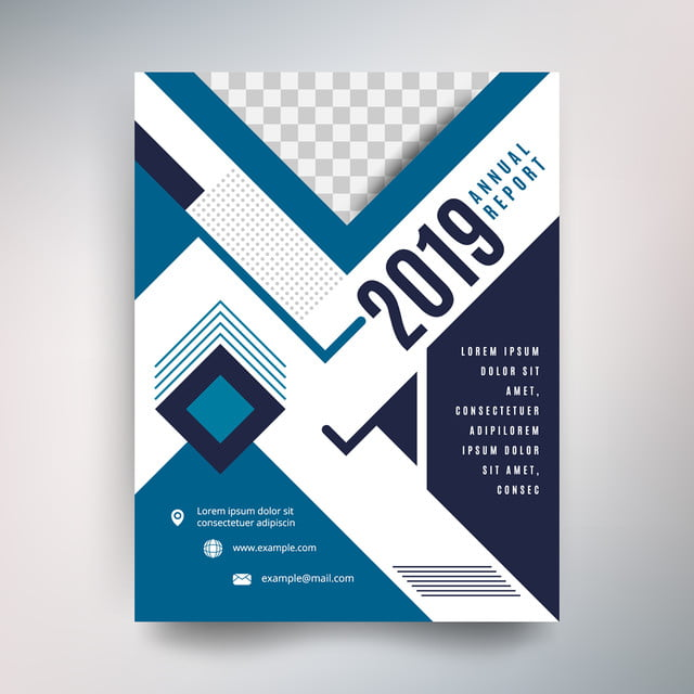 annual report template modern design with blue tone template for