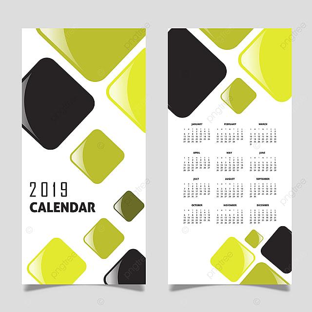 Vector 2019 Calendar Design Template For Free Download On Pngtree