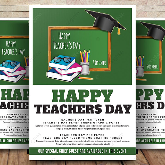 pngtreeにhappy teachers day flyer posterテンプレートの無料ダウンロード