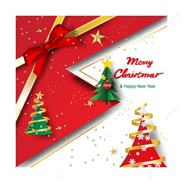 paper art and craft of merry christmas and happy new year template
