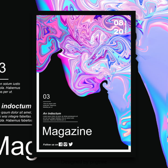 fashion fluid liquefaction concept abstract magazine cover poster