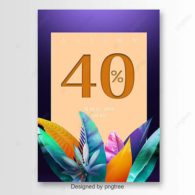 Creative autumn promotional posters Template for Free Download on ...