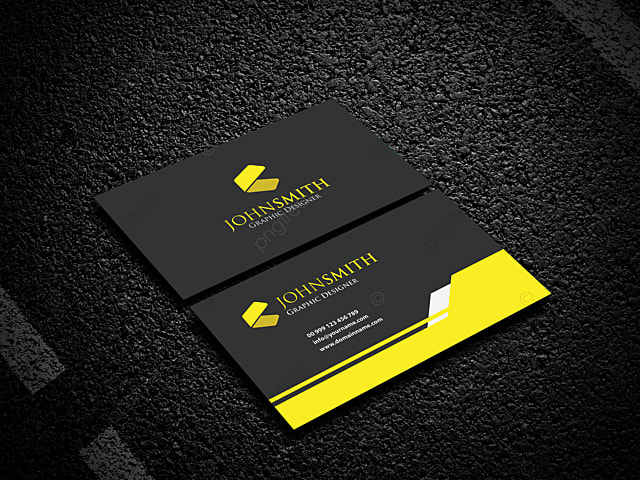 Background Material Design For Black Business Card Template Template