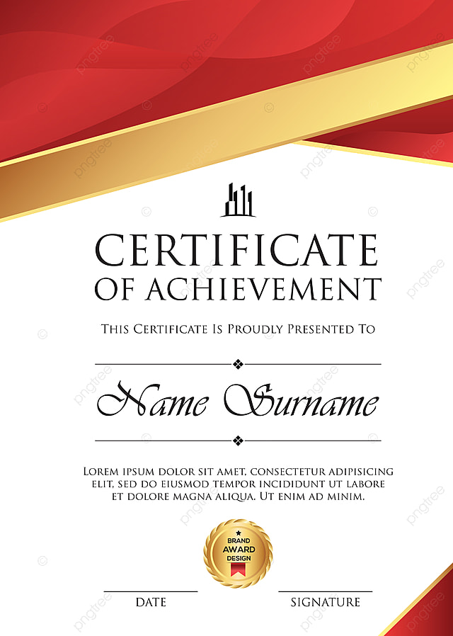 professional certificate template with premium badge template for free download on pngtree