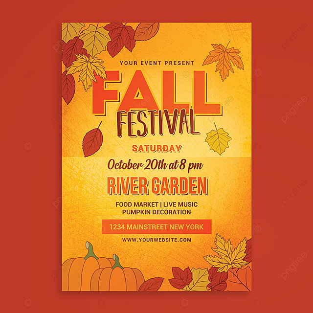 Fall Festival Flyer Template For Free Download On Pngtree