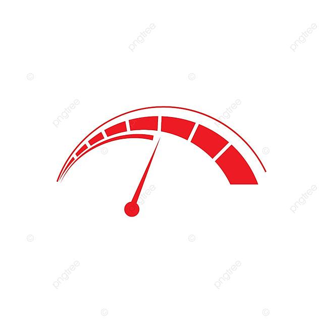 Speed Car Logo Template: Illustration Of Red Speedometer Logo Design Template