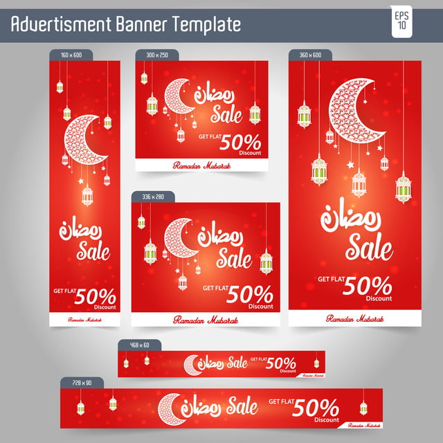 Kitchen Layout Templates 6 Different Designs: Ramadan Kareem Advertising 6 Different Sale Banner