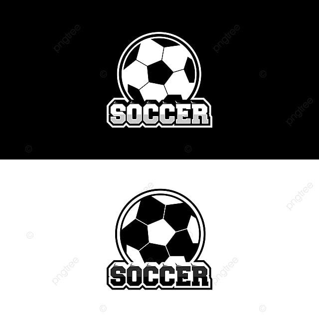 soccer logo design for team or gamer with black and white template