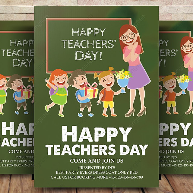 teacher day flyer template template for free download on pngtree