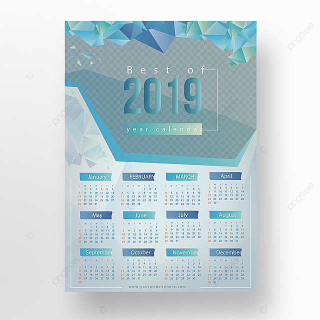 Best Calendars 2019 Best Of 2019 Calendar Design Template for Free Download on Pngtree