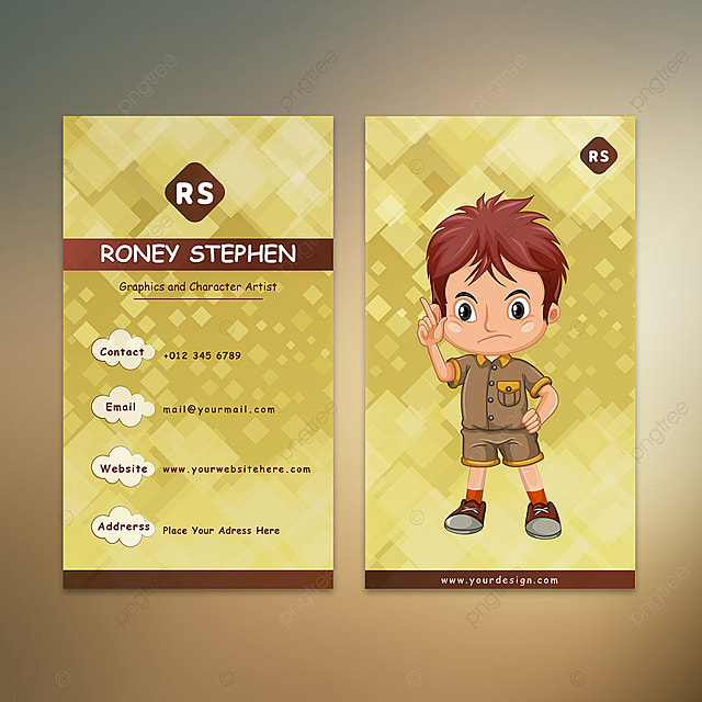 Cartoon Designer Business Card Template For Free Download