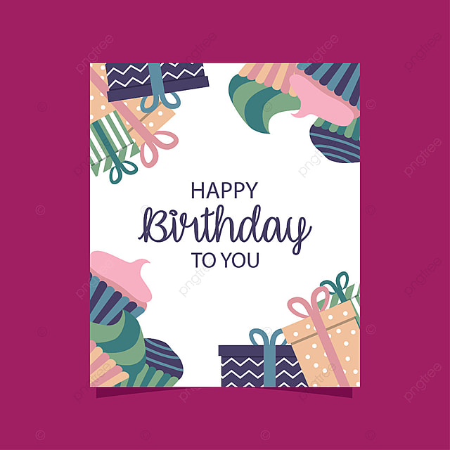 happy birthday card template for free download on pngtree