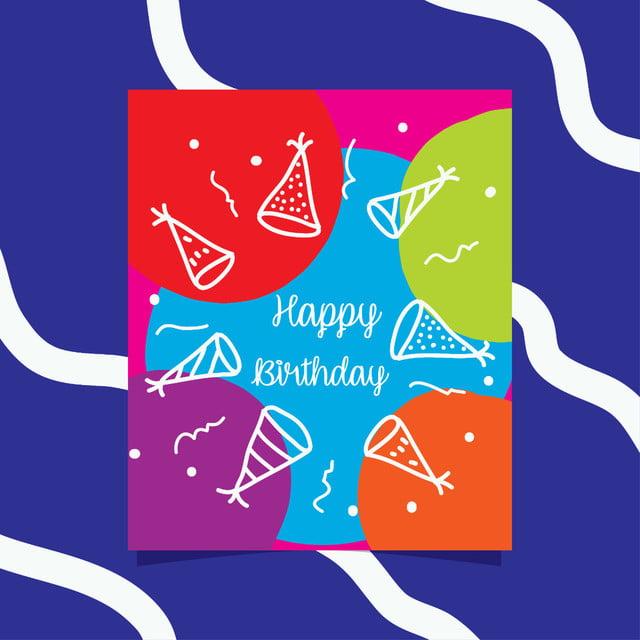 Happy Birthday Card Vorlage