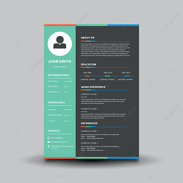 Curriculum Vitae Template Design Template For Free Download On Pngtree