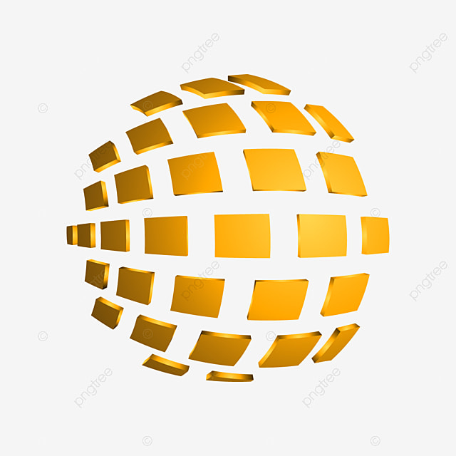 3d square abstract sphere vector illustration template for free