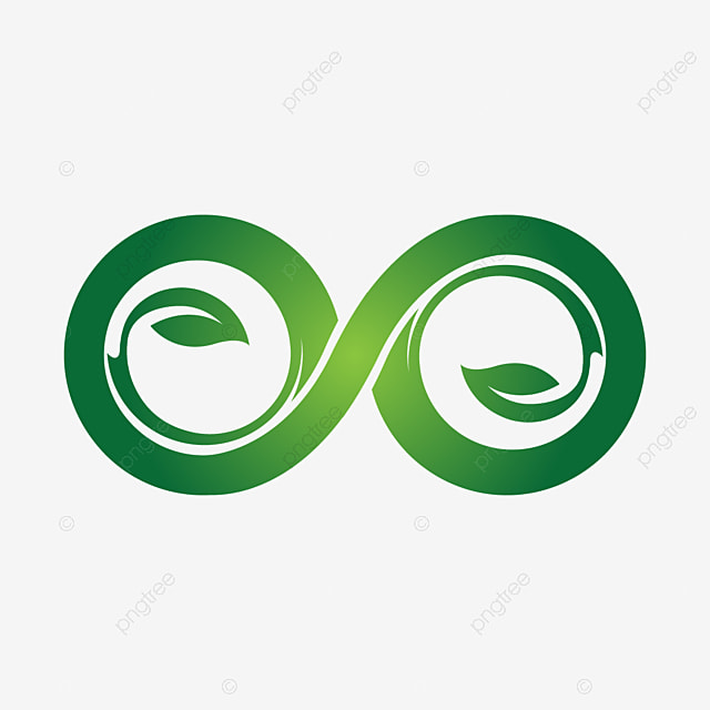 Green Eco Infinity Symbol Icons Vector Illustration Template For