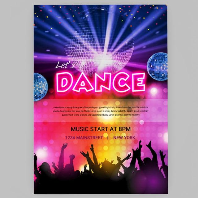 soir u00e9e dansante affiche mod u00e8le de t u00e9l u00e9chargement gratuit