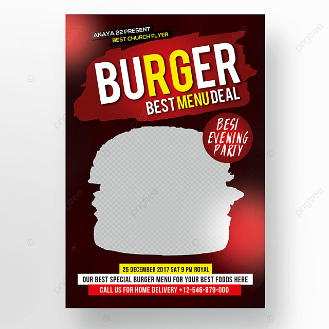 burger menu table tent template for free download on pngtree