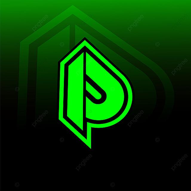 latter p logo good for gaming logo esport clan template for free