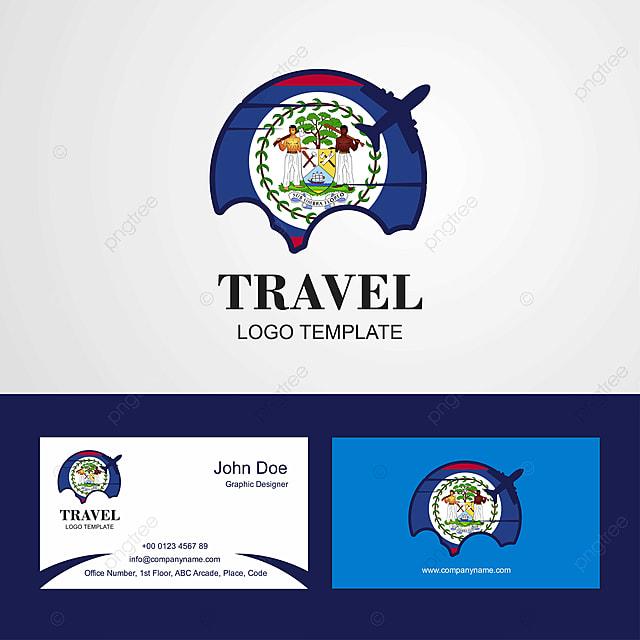 La Carte De Visite Du Voyage Et Belize Ou Logo Modele