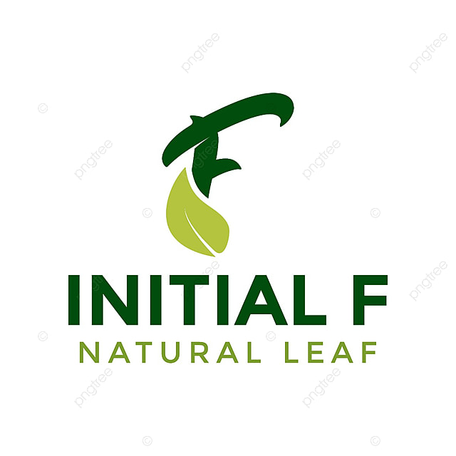 Initial Letter F And Leaf Logo Icon Design Template Template For