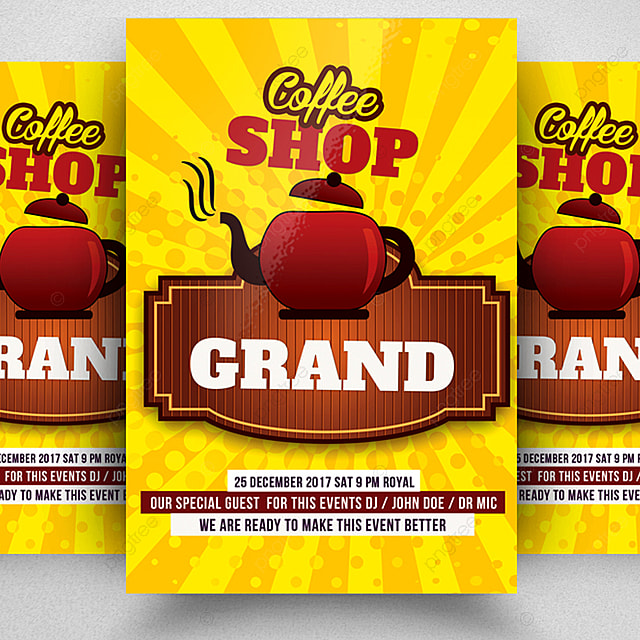 cafe restaurant flyer template template for free download on pngtree