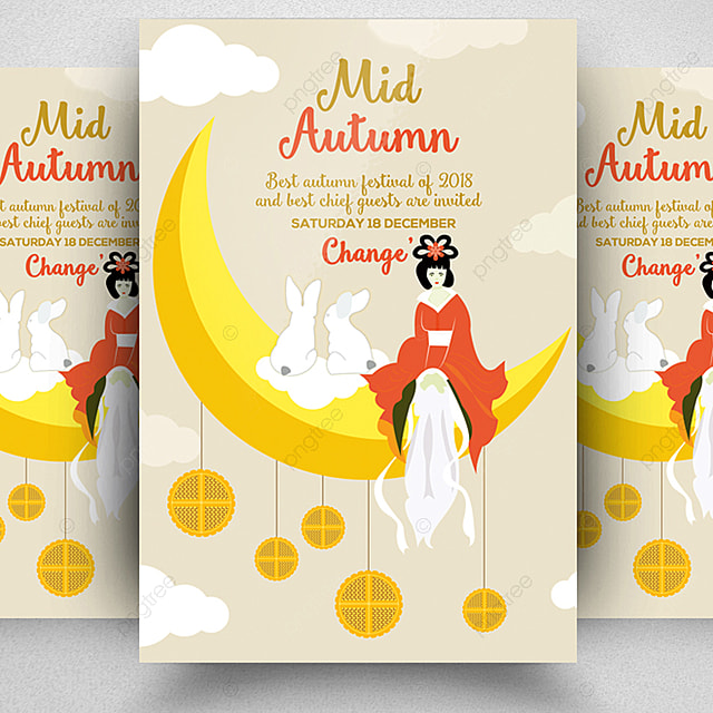 mid autumn flyer template template for free download on pngtree