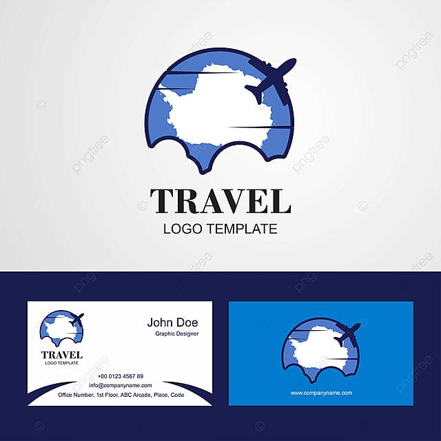 La Carte De Visite Du Voyage Logo Et Conception L Antarctique Modele