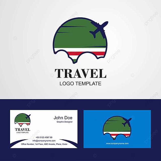 En Rpublique Tchtchne Lchkeria Voyage Du Pavillon Le Logo Et Carte De Visite Modle
