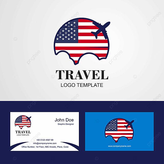 Les Etats Unis D Amerique Et Du Logo De La Carte Visite Modele