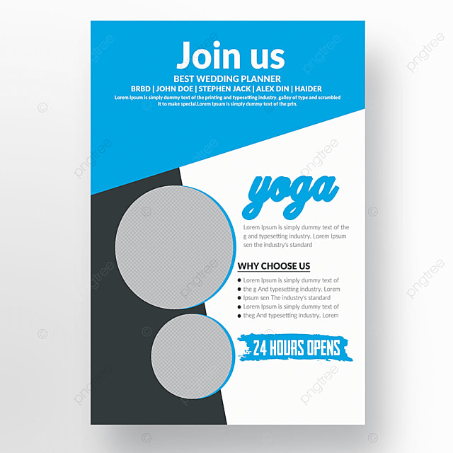 Yoga Kurse Flyer Vorlage Vorlage Zum Kostenlosen Download