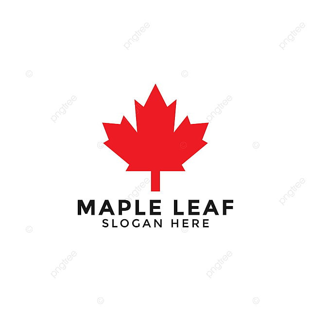 Red Maple Leaf Logo Icon Design Template Vector Template