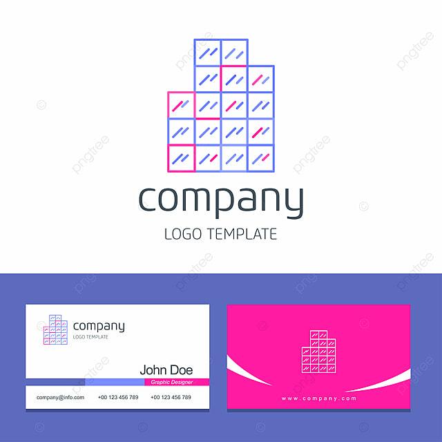 Visitenkarte Design Mit Büro Logo Vorlage Zum Kostenlosen
