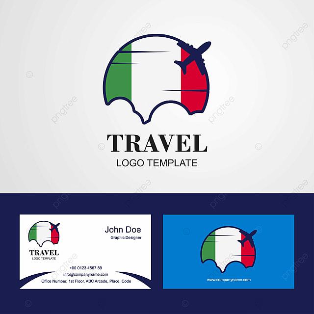 La Carte De Visite Du Voyage Logo Et Conception L Italie Modele